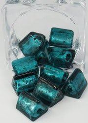 Glaspärlor trekantiga Grön turkos