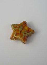 """""""Porslins"""" pärla stjärna 10mm Ljusbrun"""