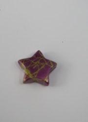 """""""Porslins"""" pärla stjärna 10mm Lila"""