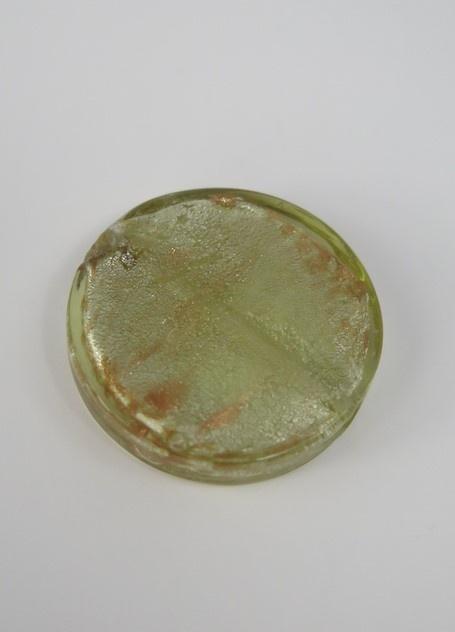 Runda flata glaspärlor Mossgrön