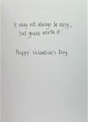 **Dubbel kort** Valentine