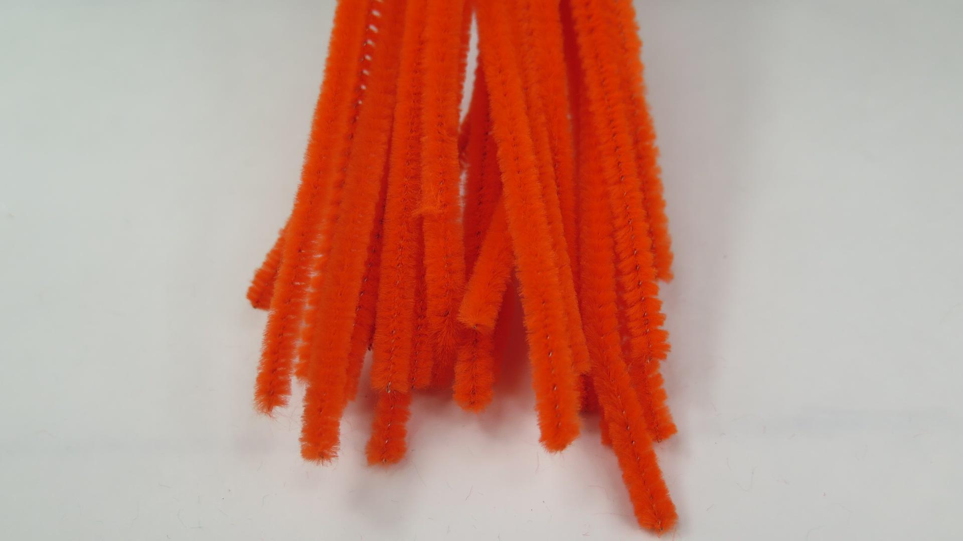 Chenille Piprensare 5mm Orange