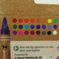 Färgkritor 24-p