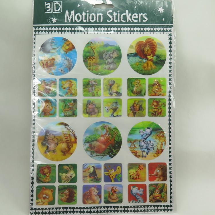 3D Stickers vilda djur