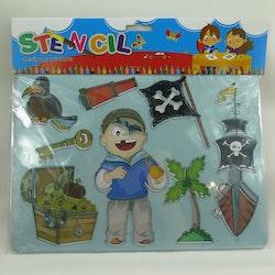 Rit stencil pirat