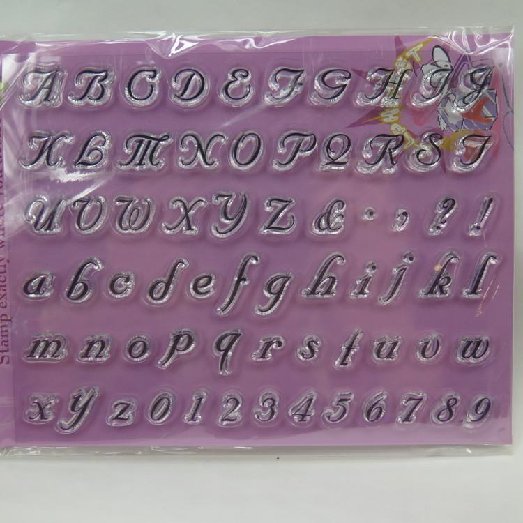 Clear Stamper bokstäver
