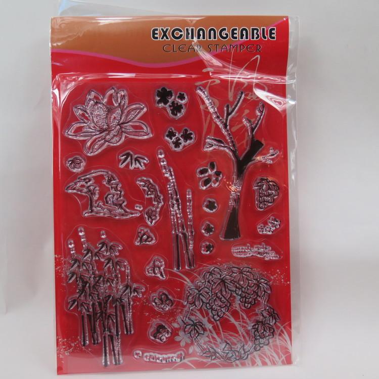 Clear Stamper Blommor o träd