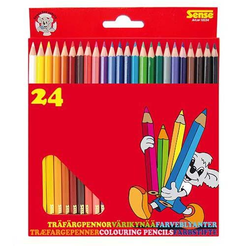 Träfärgpennor 24-p