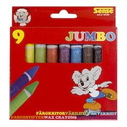 Sense Jumbo Färgkritor 9-p