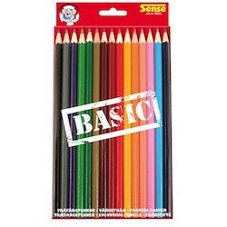 Sense Färgpennor trä 15-p