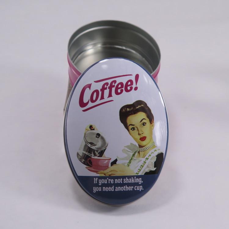 """Retro plåtburk """" Coffee!"""""""