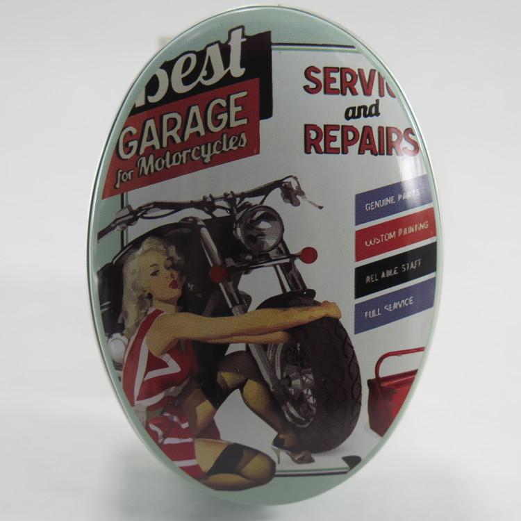 """Retro plåtburk """" Garage for..."""