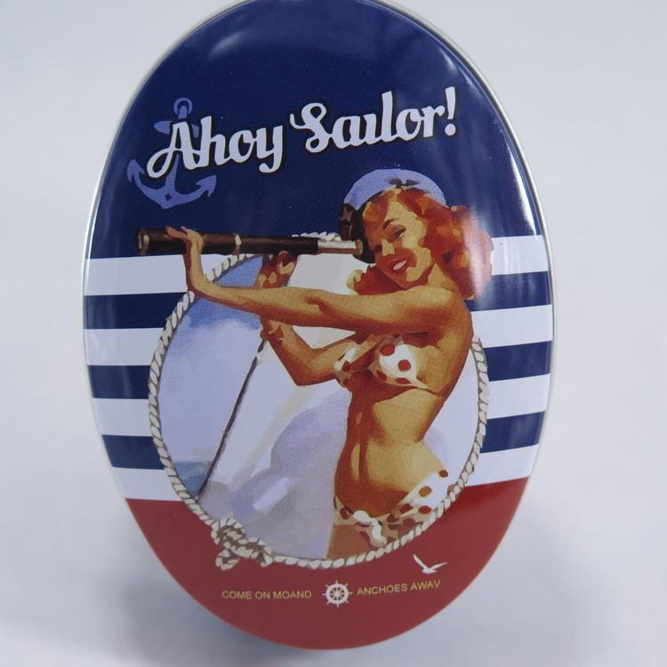 "Retro plåtburk "" Ahoy Sailor"""
