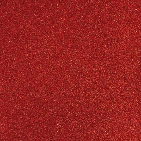 Glitterpapper 30,5x30,5 Cardinal röd
