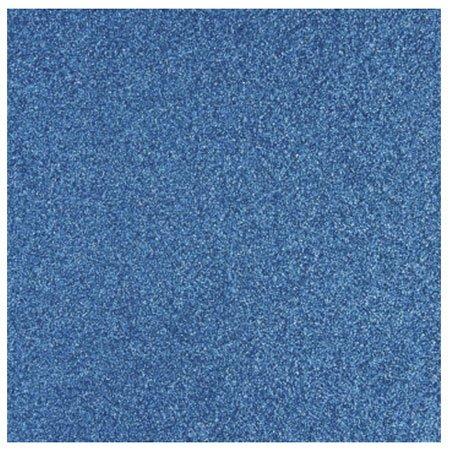 Glitterpapper 30,5x30,5 Azurblå