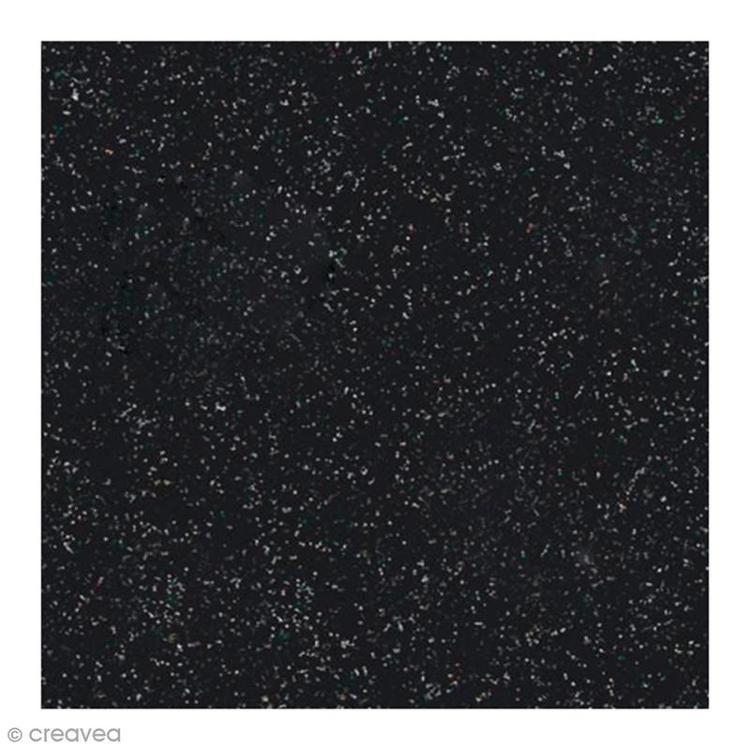 Glitterpapper 30,5x30,5 Svart