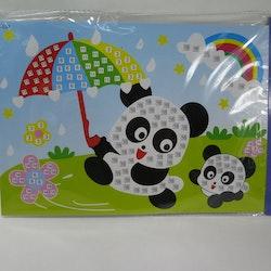 Barn Mosaic art Panda