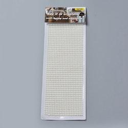 Självhäftande halv-pärlor pärlemoresin stickers 4mm