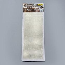 Självhäftande halv-pärlor pärlemoresin stickers 5mm