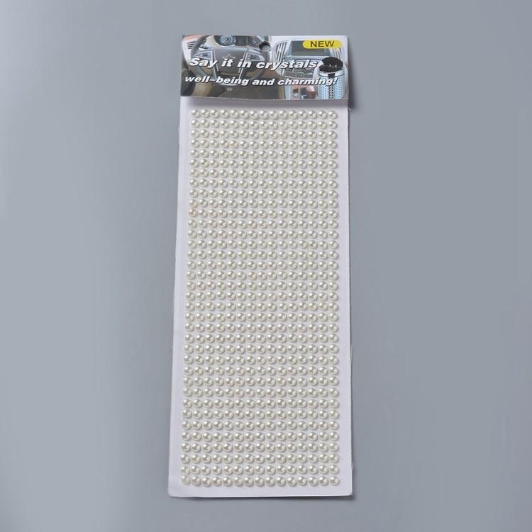 Självhäftande halv-pärlor pärlemoresin stickers 6mm