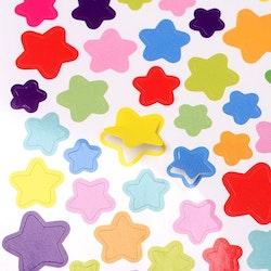 Stickers stjärnor självhäftande 1ark