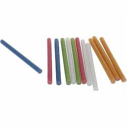 Limstavar 12-p glitter flerfärgade