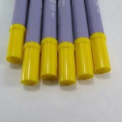Zig Scroll & Brush tuschpennor 6-p gul