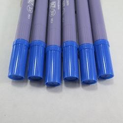 Zig Scroll & Brush tuschpennor 6-p cyanblå