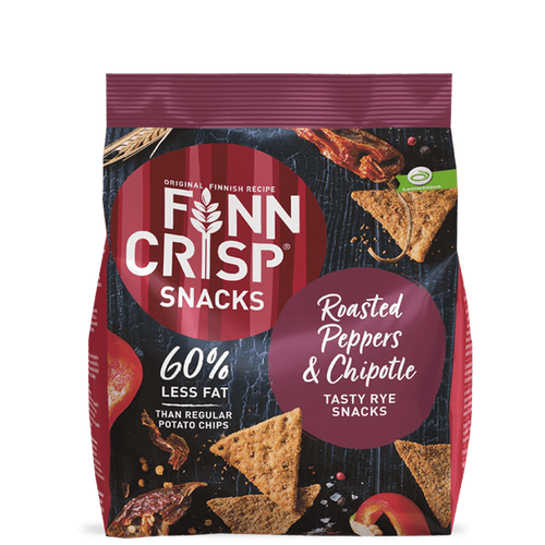 FinnCrisp ROASTED PEPPERS & CHIPOTLE RYE SNACKS