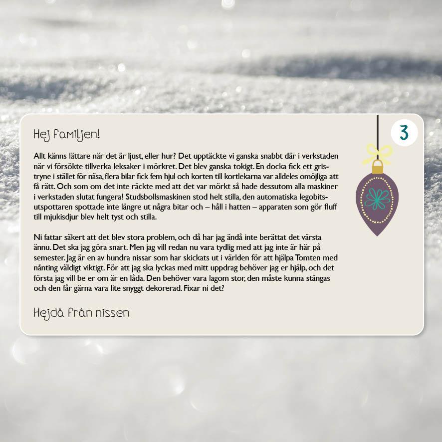 Julmysteriet, 5-10 år (Tryckta nissebrev)
