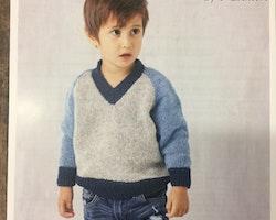 Raglan tröja med V -hals Barn 1-4 år