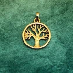 Livets träd - Helt i guldpläterat silver