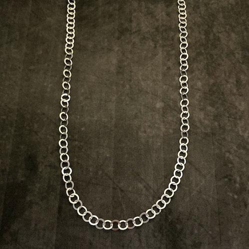 Gaby - Långt silverhalsband