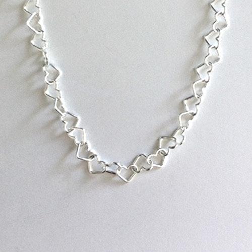 Fotlänk - Silverhjärtan 5 mm