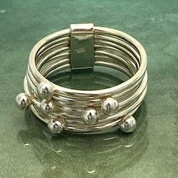 Milla - Silverring med små kulor