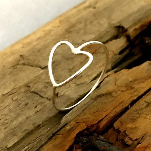 Hjärtring i silver
