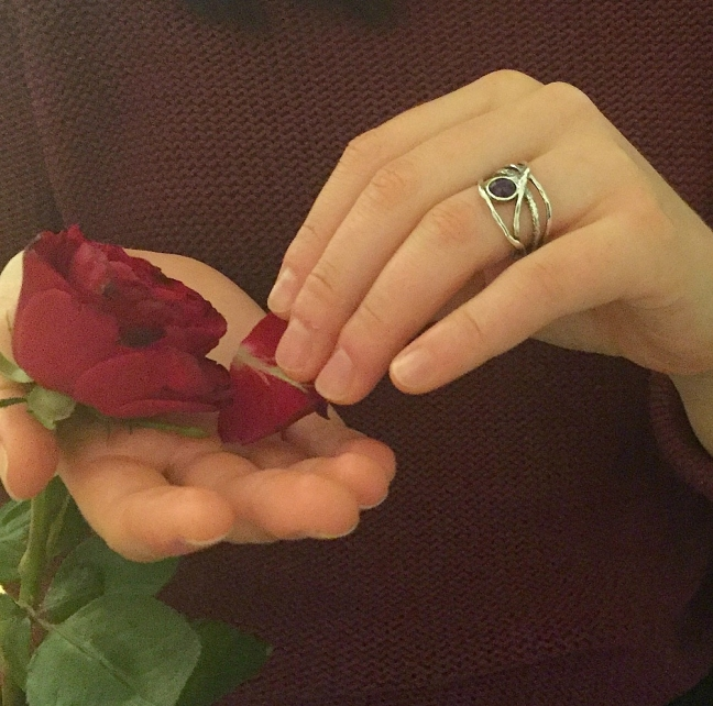 Lily - Silverring med äkta ametist
