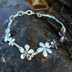 Silver flower - Armband