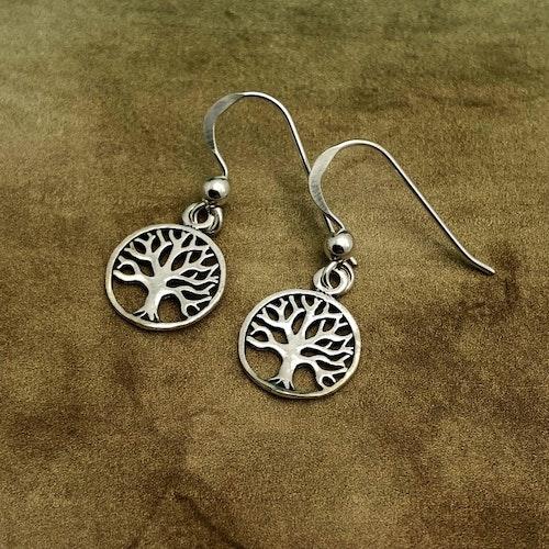 Livets träd - Nätta silverörhängen