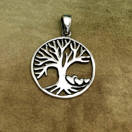 Livets träd - Hänge med tre små hjärtan