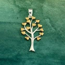 Livets träd - med 14 guldhjärtan