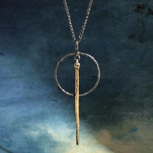 Marcella - Silverhalsband i svart och guld