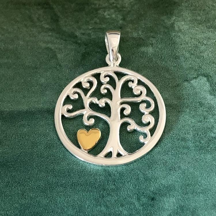 Livets träd - med guldpläterat hjärta