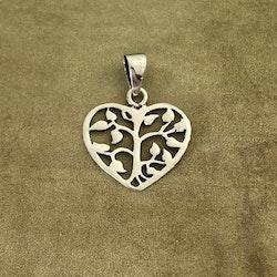 Livets träd - Litet hänge i hjärtform