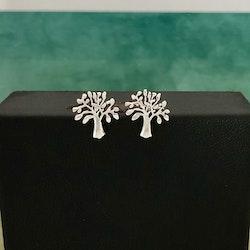 Livets träd - Små nätta silverörhängen