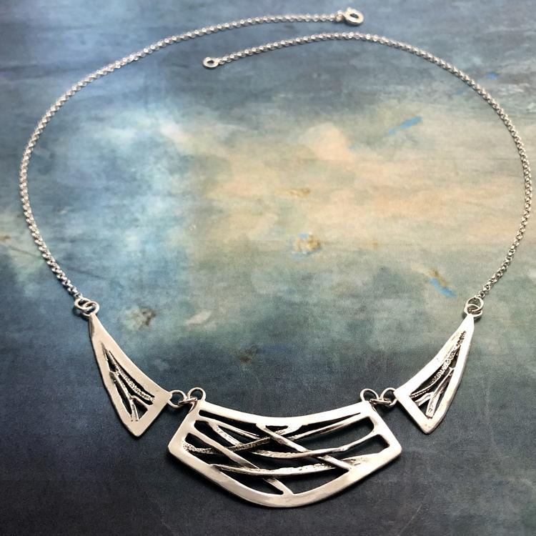 Monique - Silverhalsband