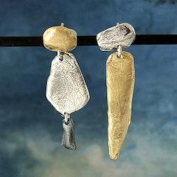 Novalie - Örhängen med skön design i silver, guld och svart