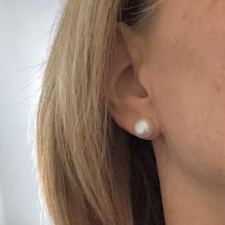Sötvattenpärlor vita 10 mm