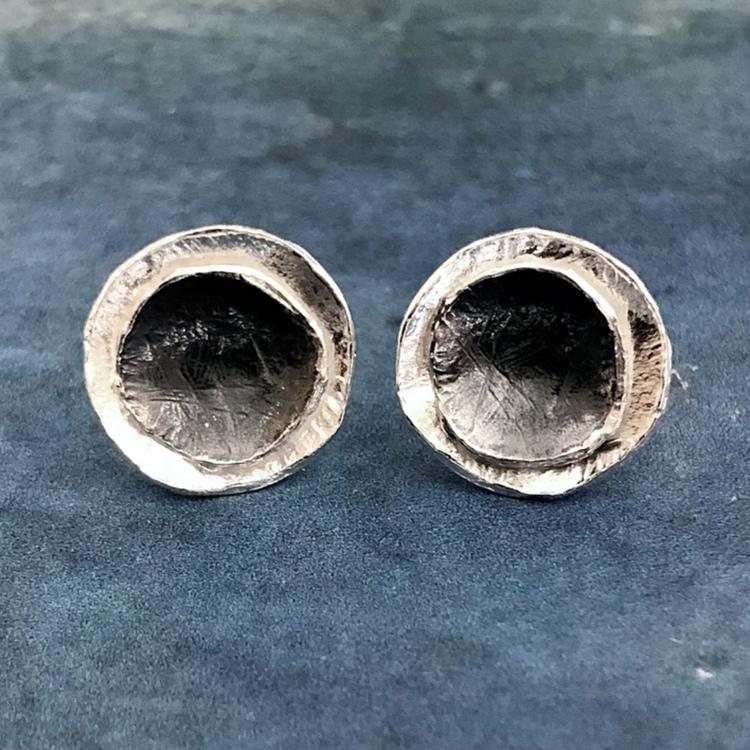 Melina - Silverörhängen med svartoxid