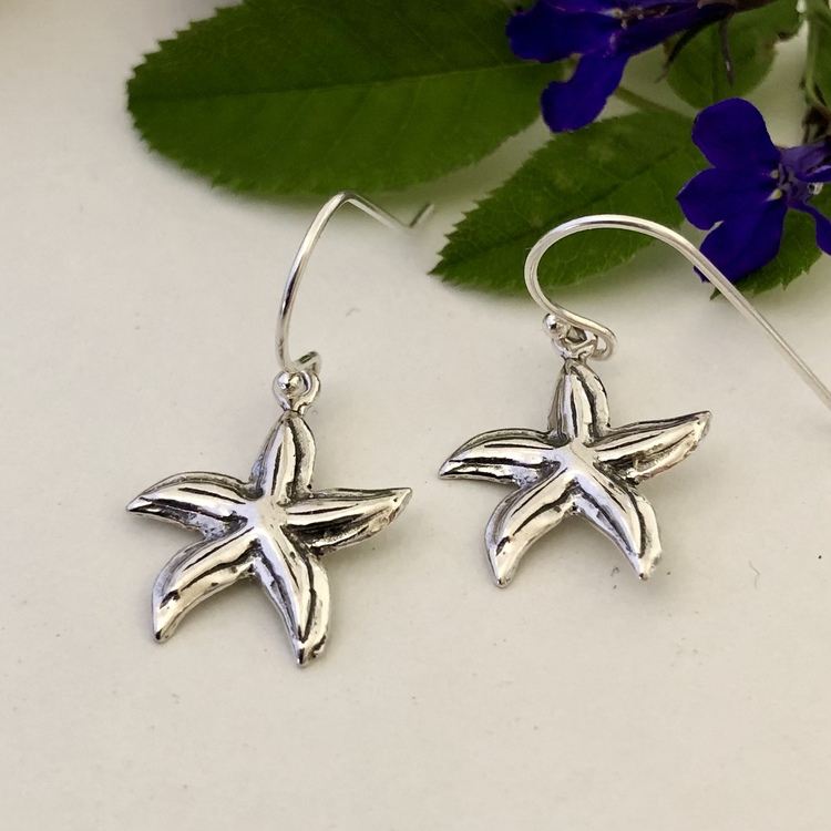 Starfish - Örhängen i silver